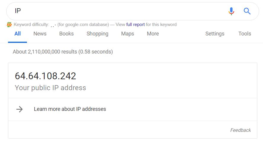 Your Public IP address